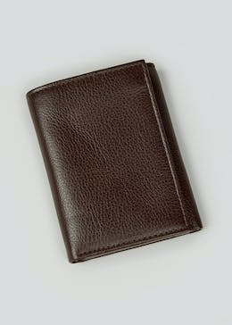 Italian Leather RFID Blocking Tri-Fold Wallet