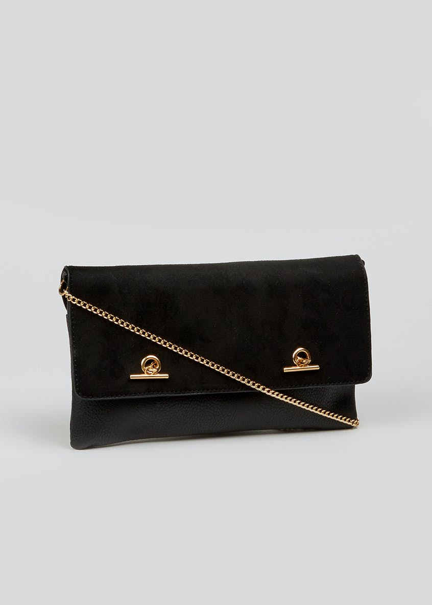 Chain Front Clutch Bag