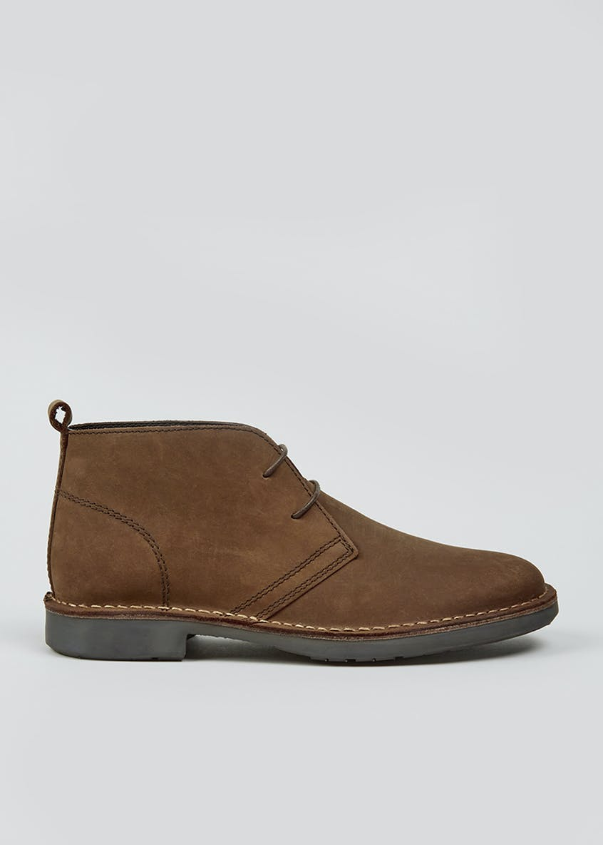 Real Leather Desert Boots