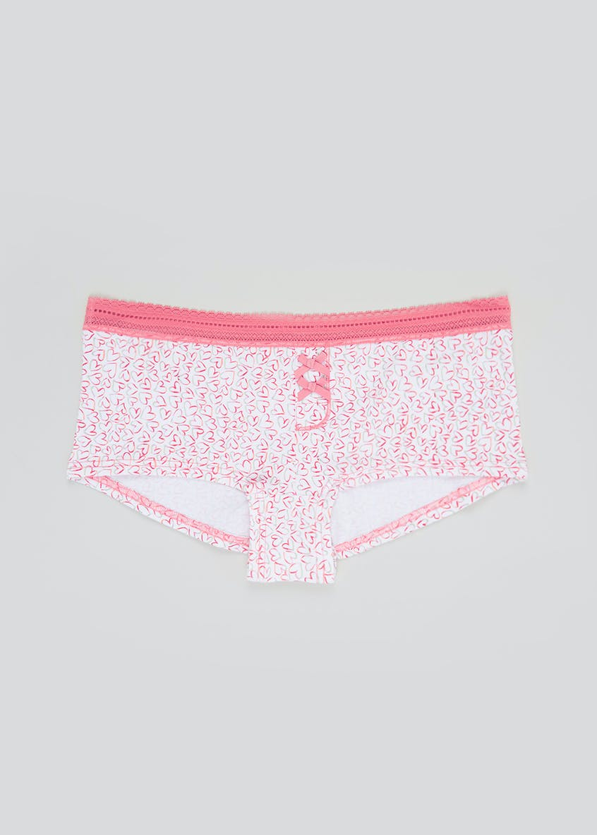 Heart Print Boxer Knickers