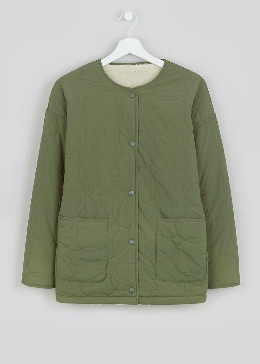 Falmer Khaki Quilted Reversible Coat
