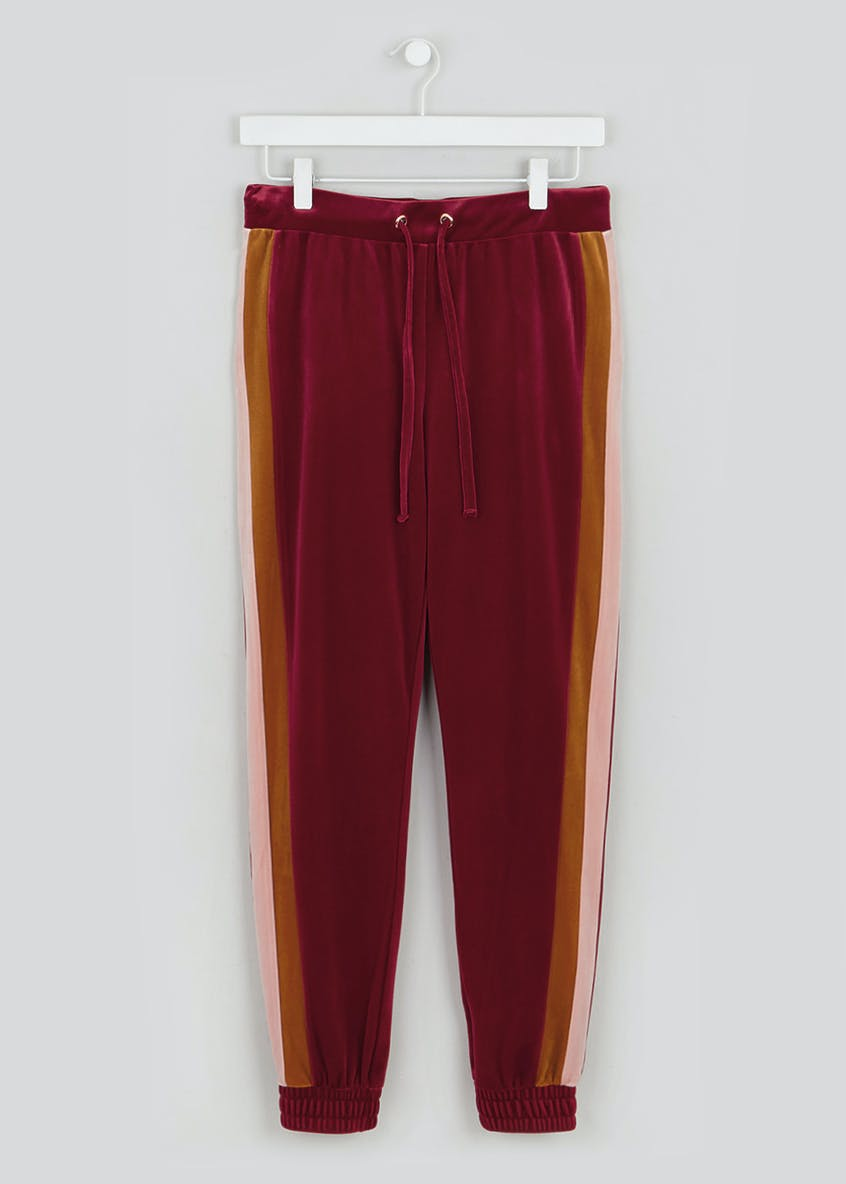 Chevron Velour Jogging Bottoms