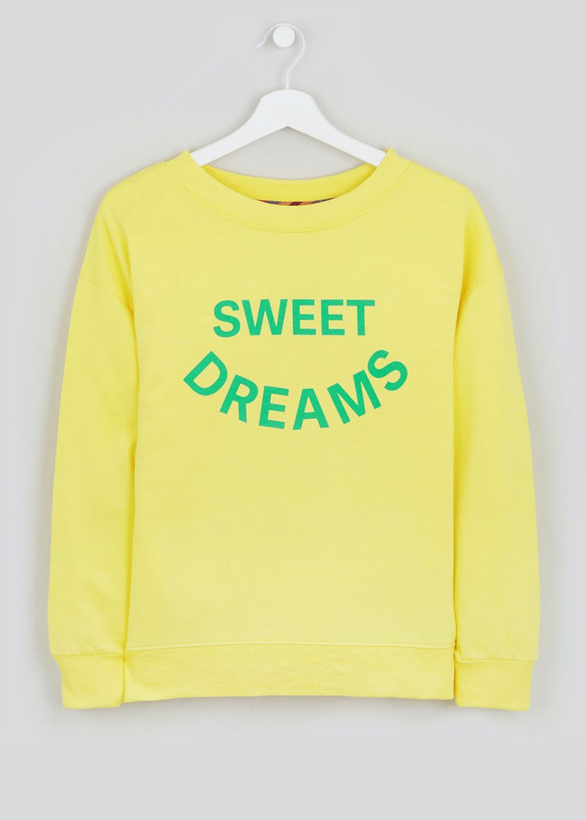Slogan Sweatshirt Pyjama Top