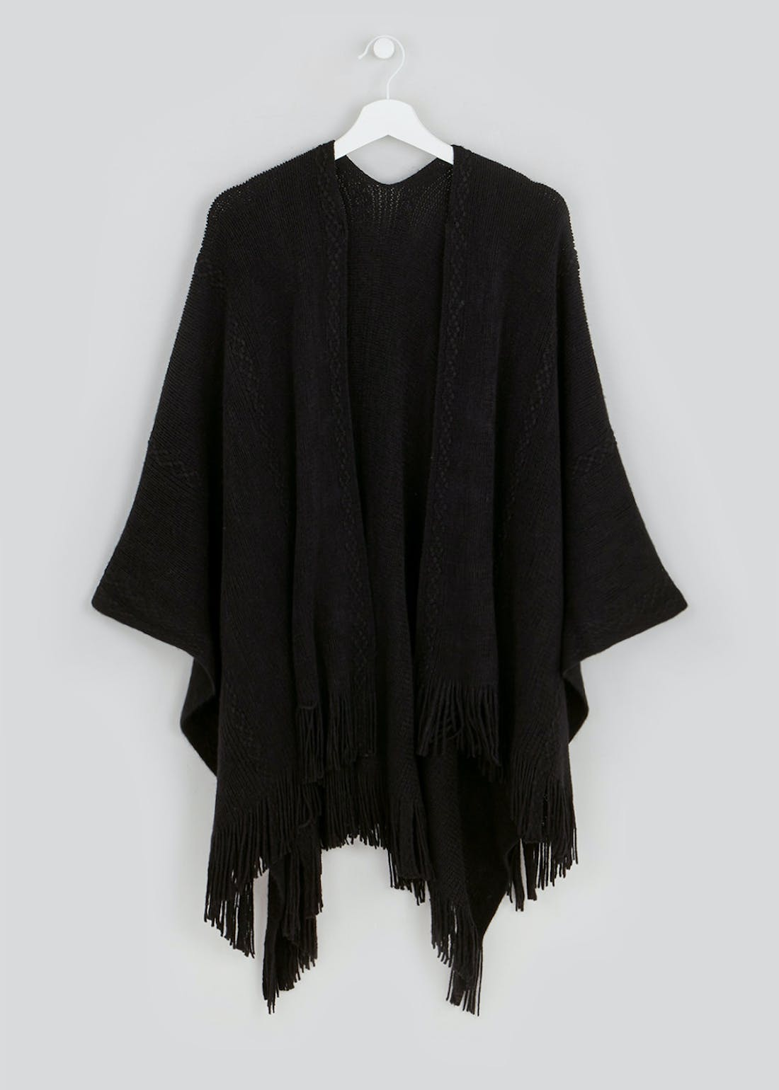 Fringed Cable Shawl