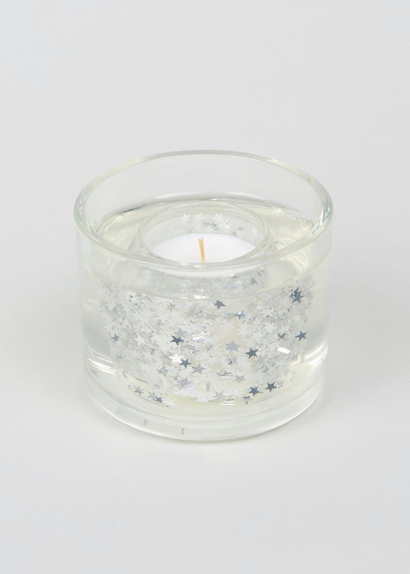 Frosted Apple Christmas Gel Candle (10cm x 10cm x 8cm)