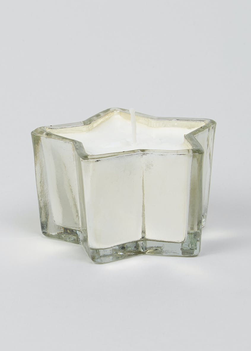Star Glass Candle (8cm x 8cm x 5cm)