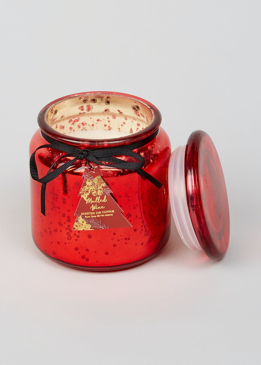 Mulled Wine Lidded Christmas Candle (11cm x 9cm x 9cm)