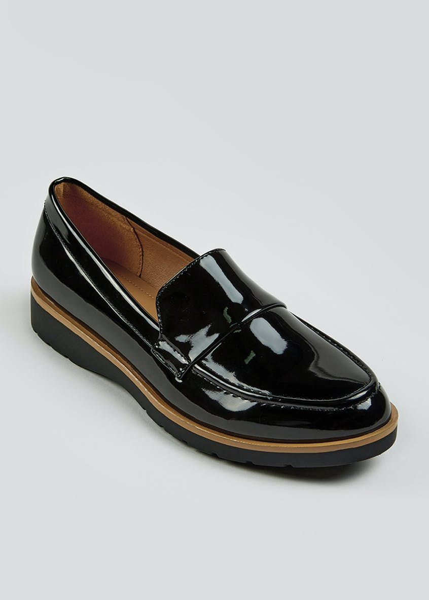 Patent Chunky Loafers