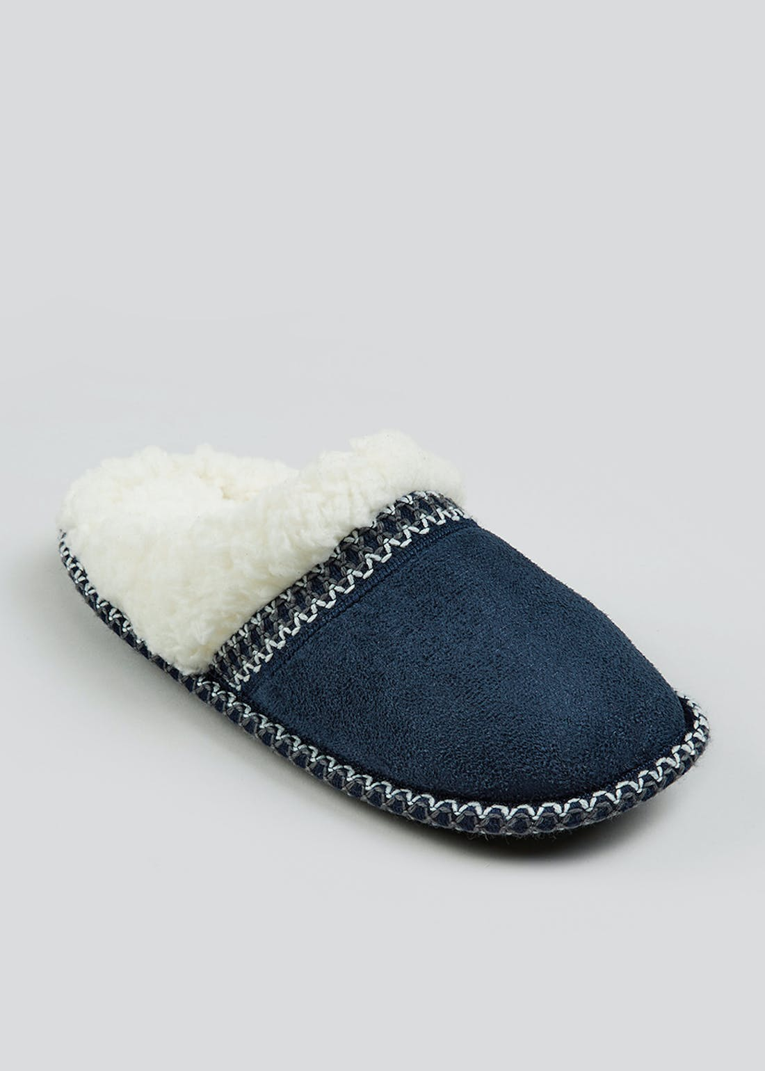 Navy Tape Lined Mule Slipper