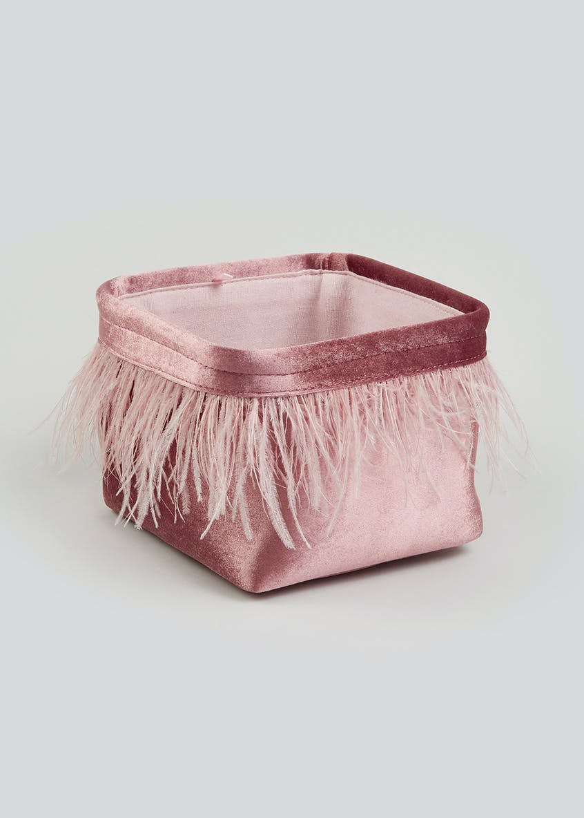 Feather Trim Storage Basket