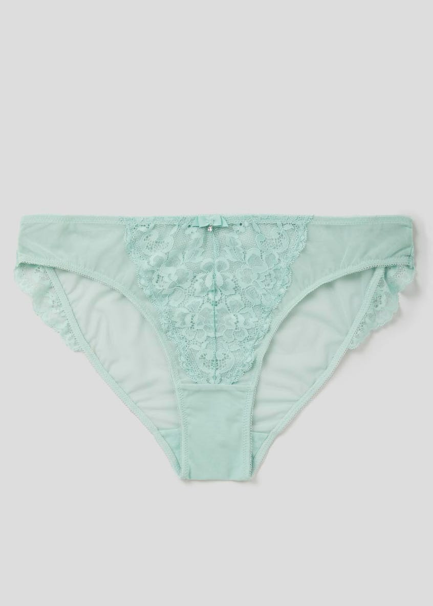 Lace Trim High Leg Knickers
