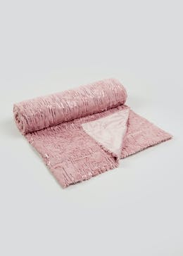 Sequin Faux Fur Throw Blanket (200cm x 150cm)