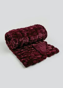 Farhi by Nicole Farhi Faux Fur Throw (150cm x 200cm)