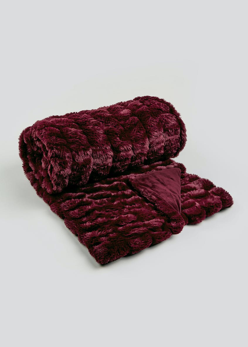 Farhi by Nicole Farhi Faux Fur Throw Blanket (150cm x 200cm)