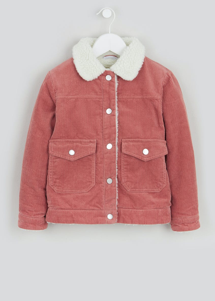 Girls Borg Collar Cord Jacket (4-13yrs)