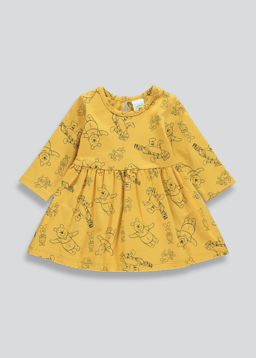 Girls Winnie The Pooh Dress (Newborn-12mths)
