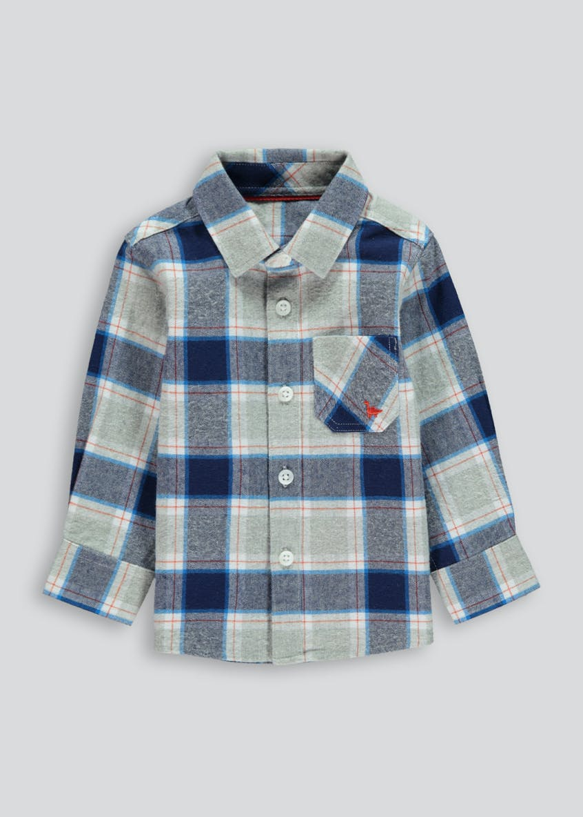 Boys Brushed Long Sleeve Check Shirt (9mths-6yrs)