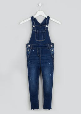 Girls Denim Dungarees (4-13yrs)