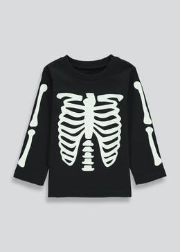 Kids Glow In The Dark Halloween T-Shirt (9mths-6yrs)