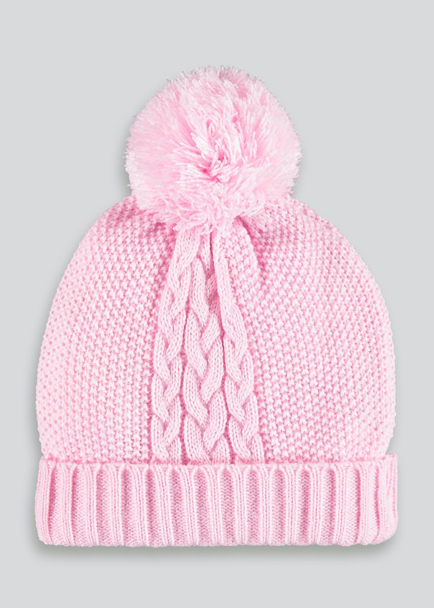 Unisex Knitted Bobble Hat (Newborn-24mths)