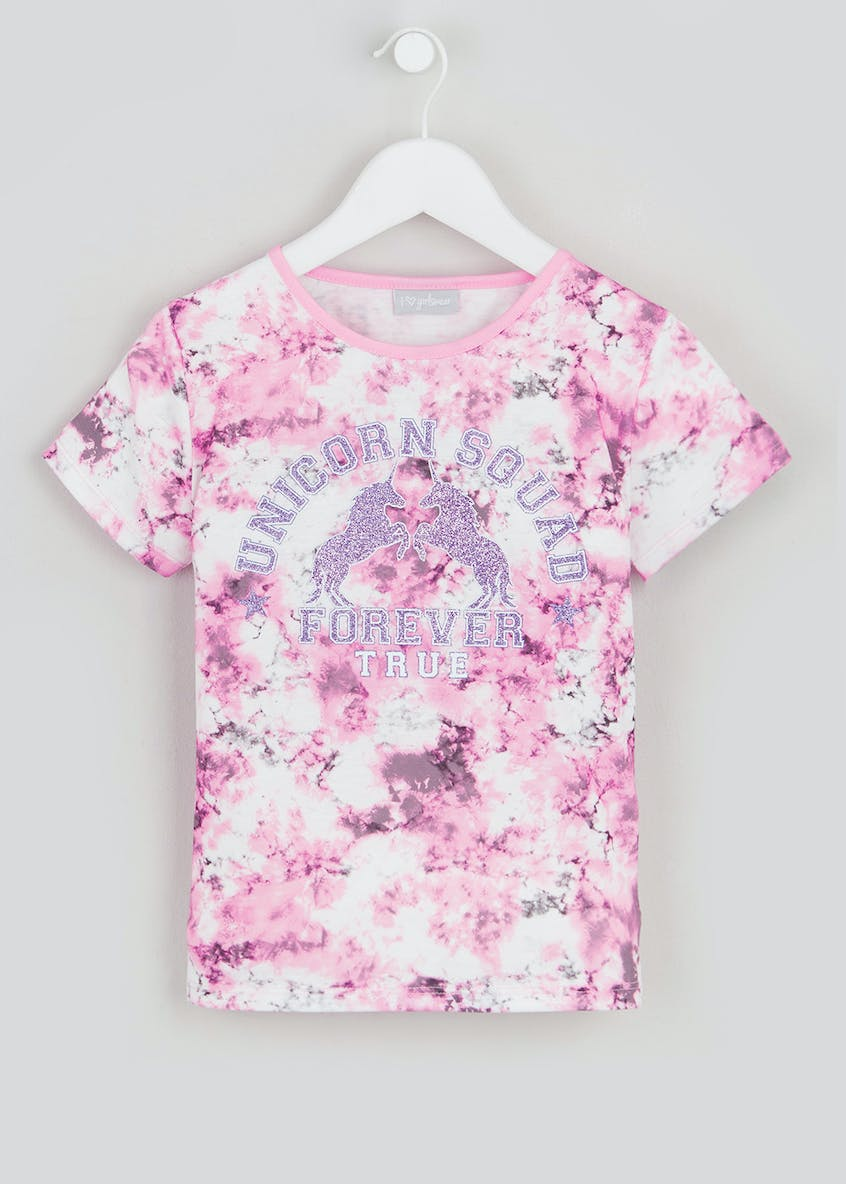 Girls Marble Print T Shirt (4-13yrs)