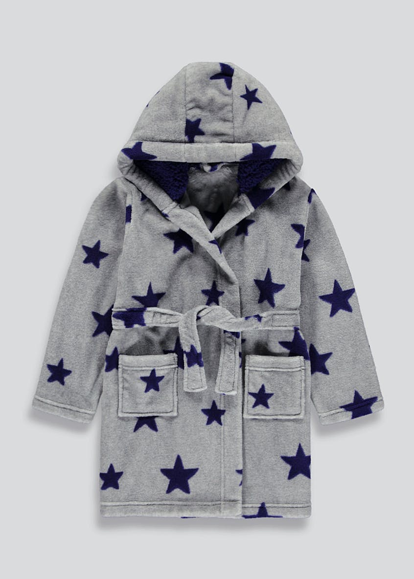Kids Star Fleece Dressing Gown (4-13yrs)