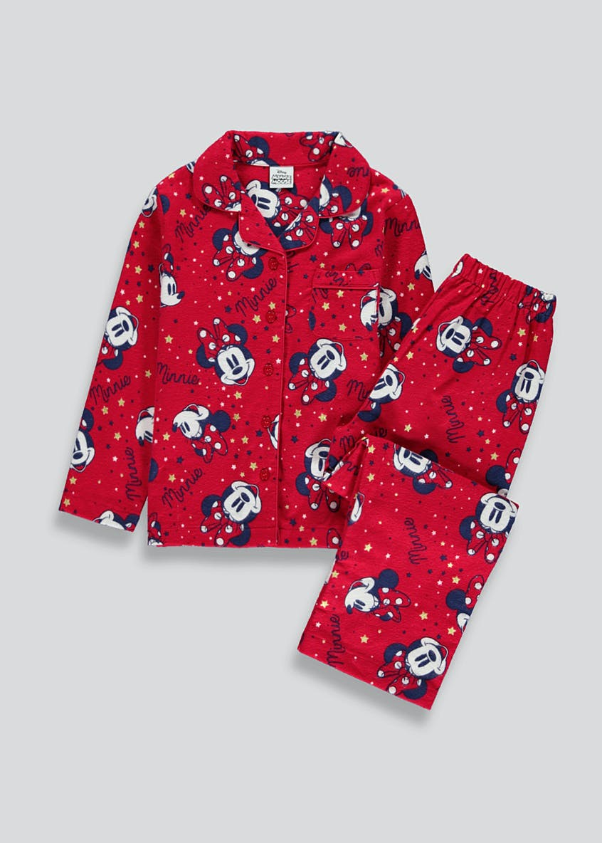 Disney Minnie Mouse Button Through Pyjama Set (9mths-10yrs)