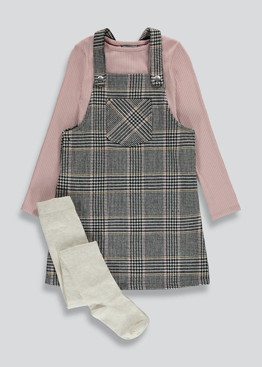 Girls Pinafore Set (4-13yrs)