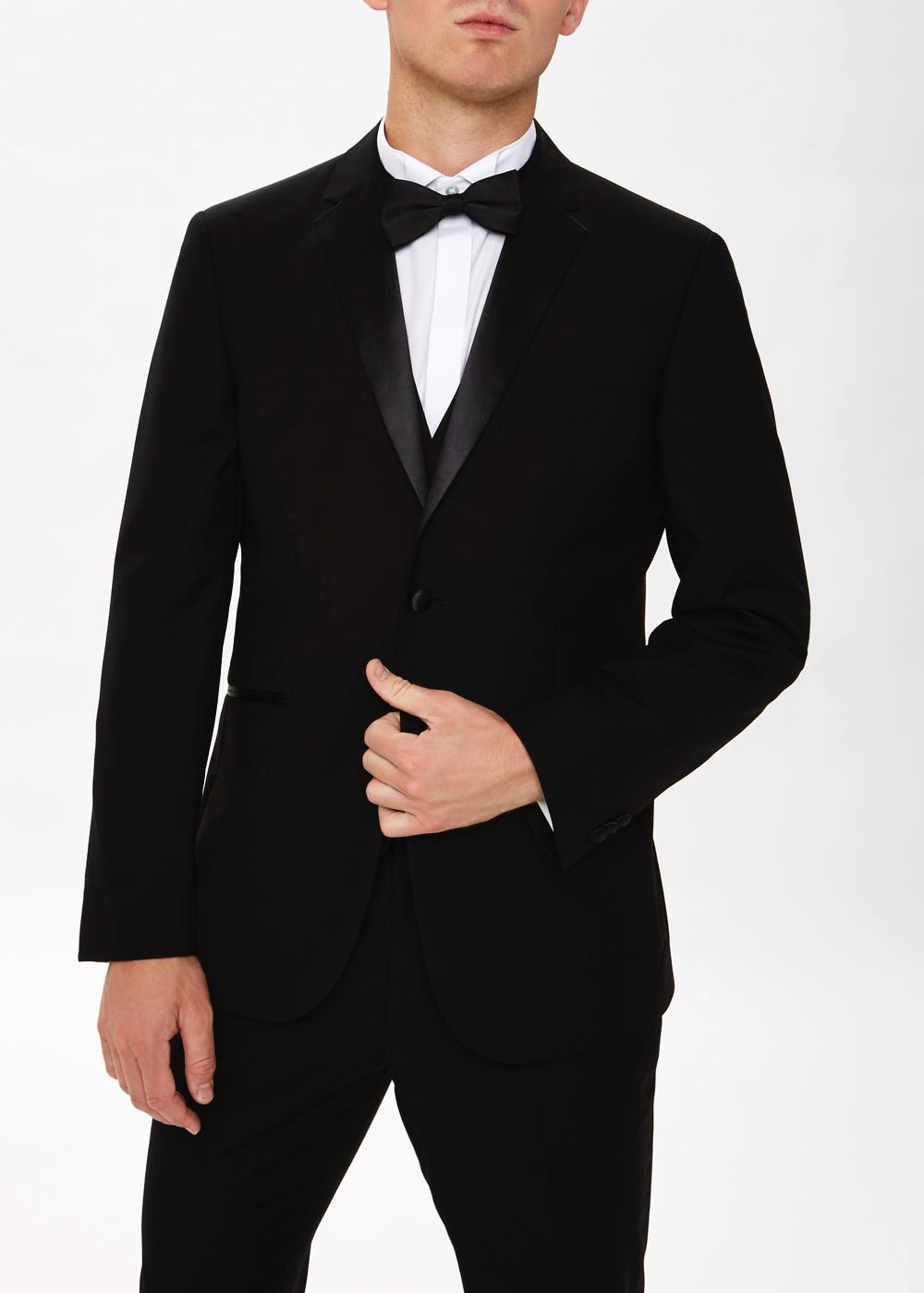Taylor & Wright Firth Tailored Fit Tuxedo Jacket Black XeZtrS