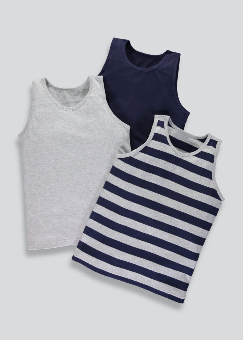 Kids 3 Pack Vests (2-13yrs)