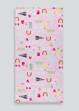 Multi Print Kids Beach Towel (70cm x 140cm)