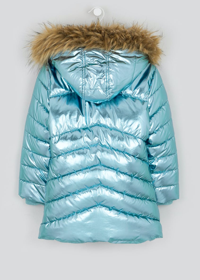 Girls Metallic Padded Parka (4-13yrs)