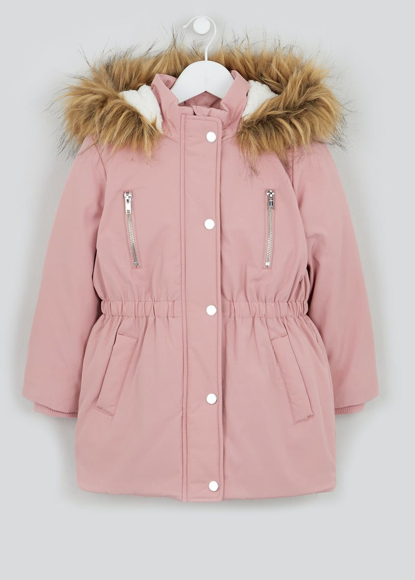 Girls Padded Hooded Parka (4-13yrs)