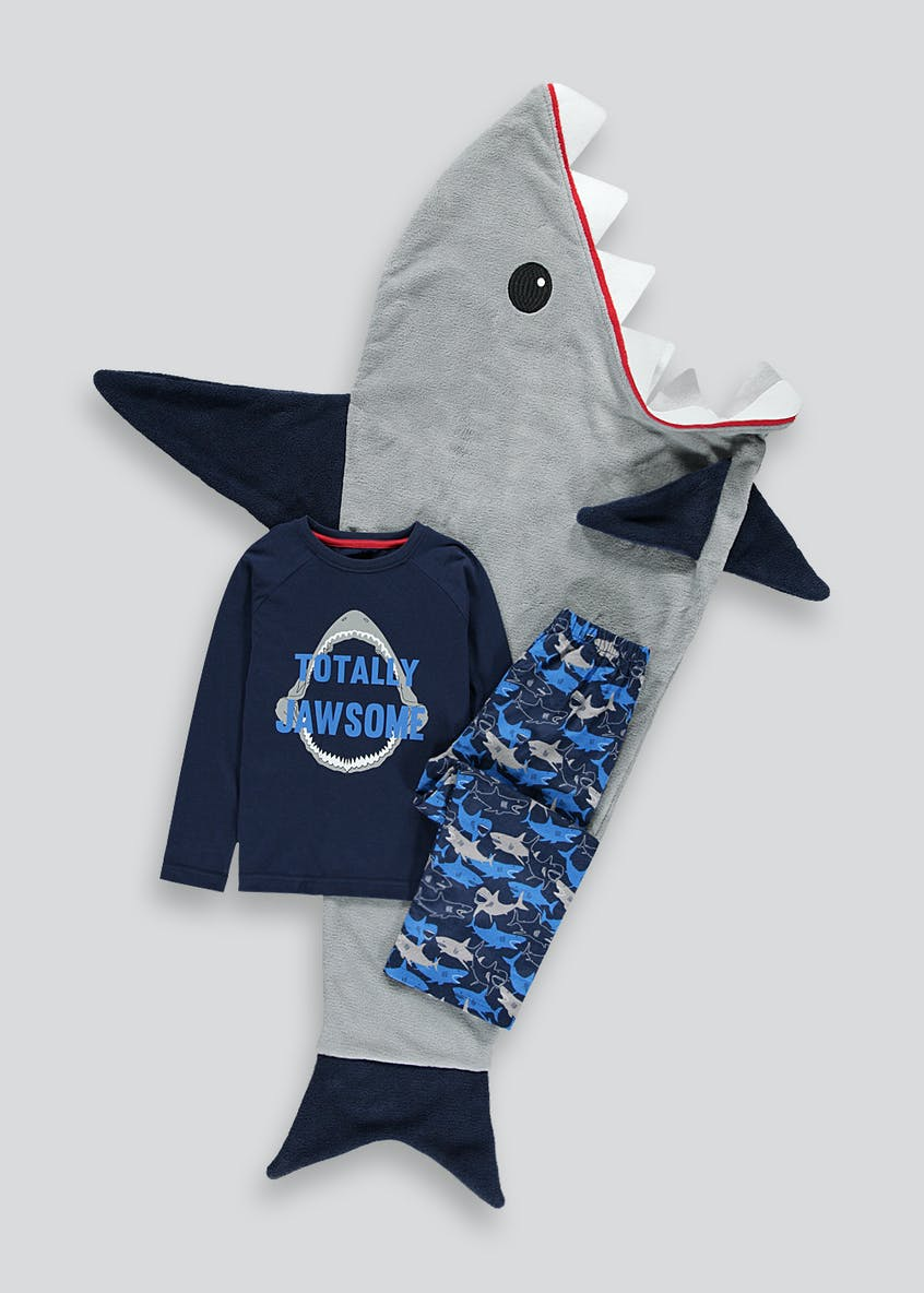 Boys 3 Piece Shark Pyjama Set (4-13yrs)