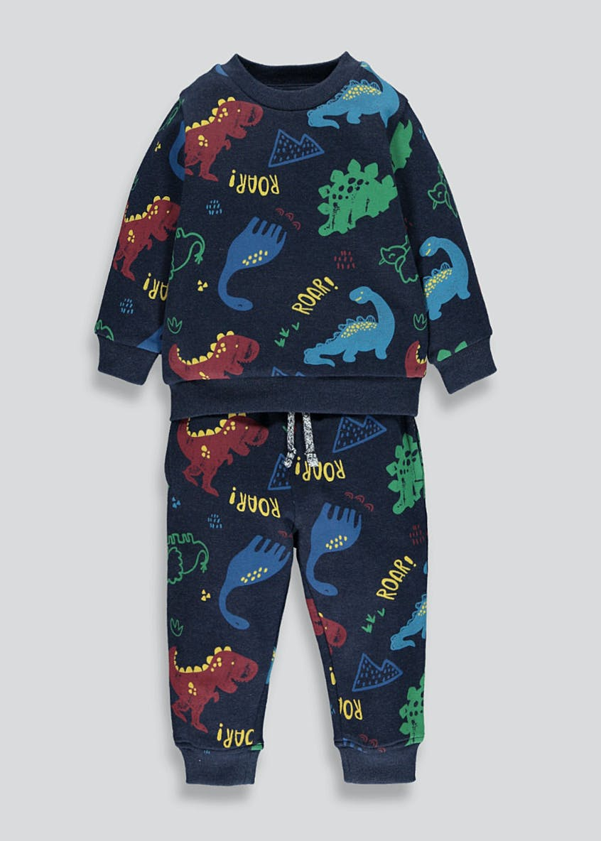 Boys Brushback Dinosaur Jogging Set (9mths-6yrs)