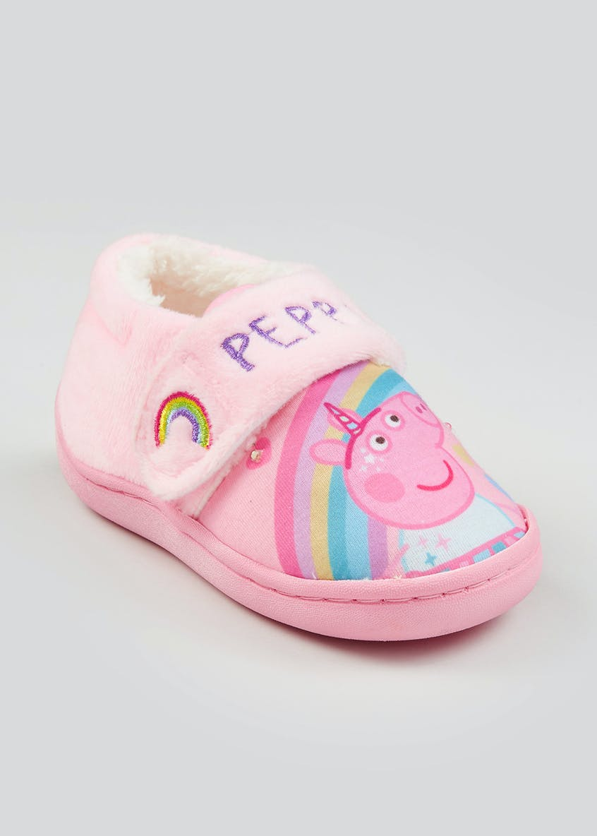 Kids Pink Peppa Pig Light Up Slippers (Younger 4-12)