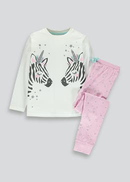 Girls Zebracorn Pyjama Set (4-13yrs)