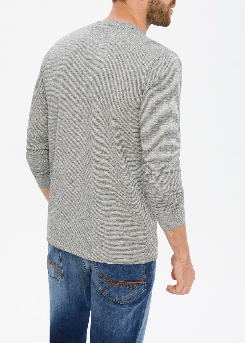 Morley Grandad Collar Long Sleeved Top