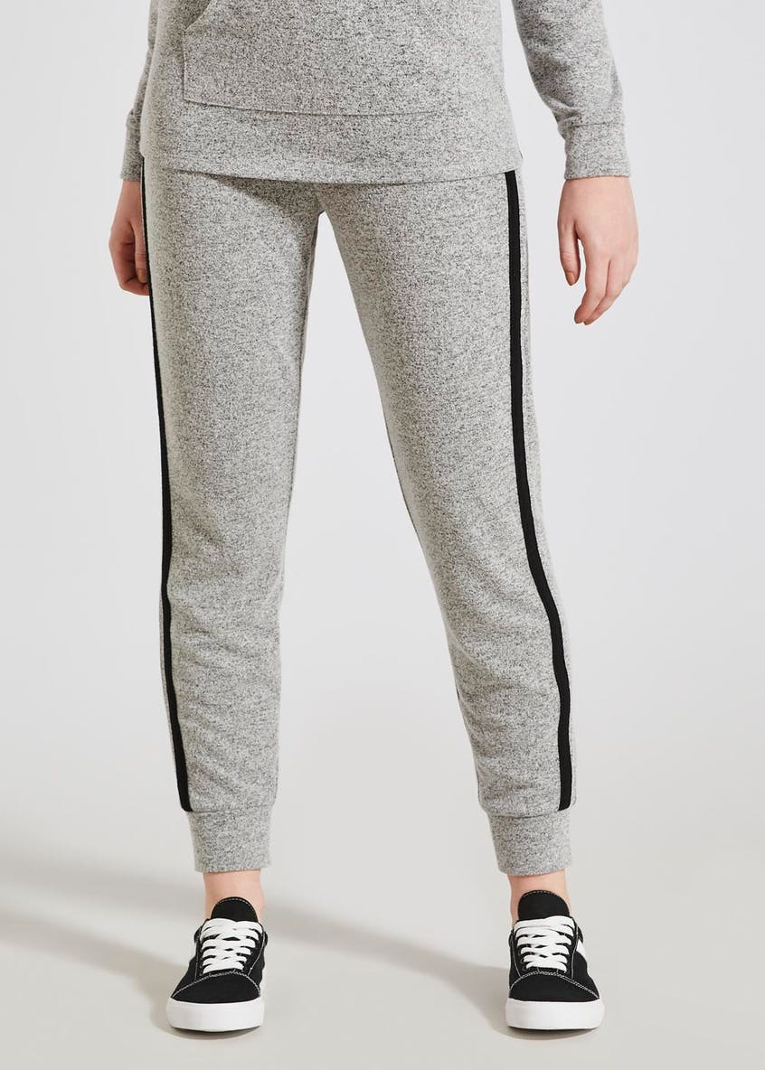 Soft Touch Stripe Tapered Jogging Bottoms