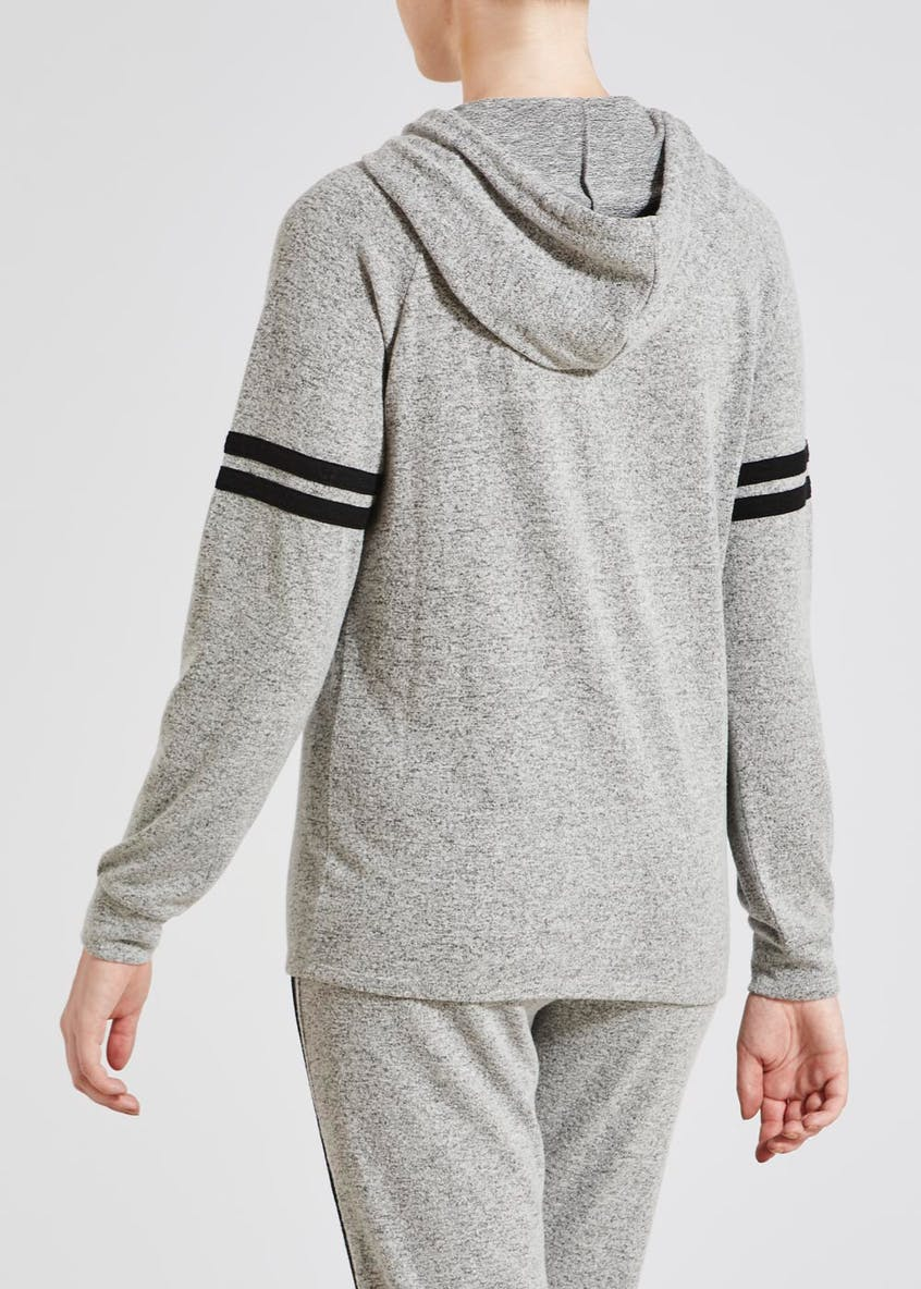Soft Touch Stripe Hoodie