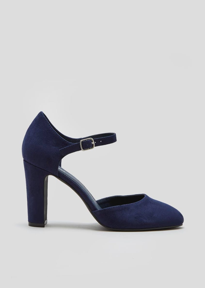Two Part Round Toe Court Shoes