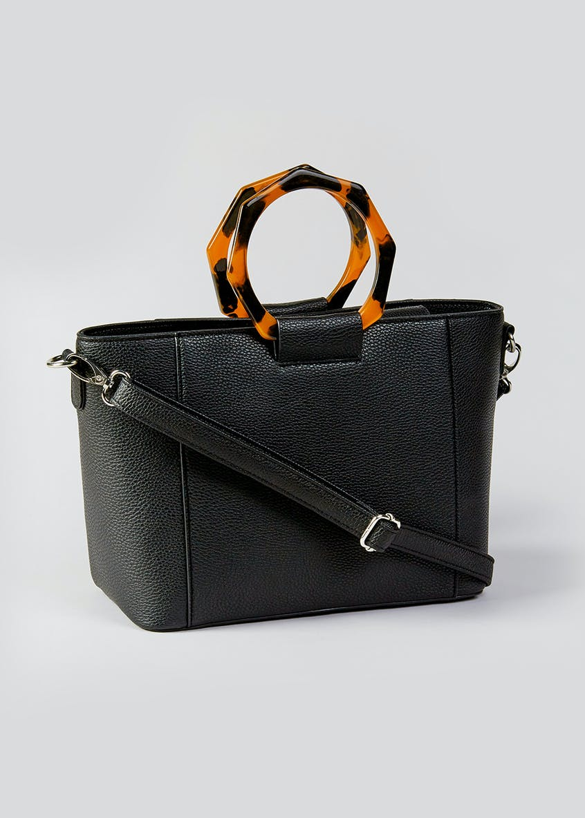 Tortoiseshell Handle Bag