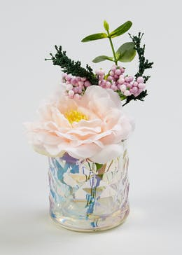 Flowers In Vase (13cm x 7.5cm x 7.5cm)