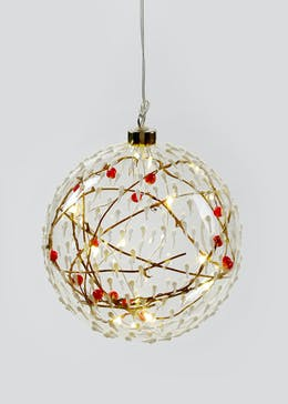 LED Christmas Bauble with Berries