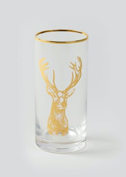 Stag Christmas Hi-Ball Glass (15cm x 7cm)