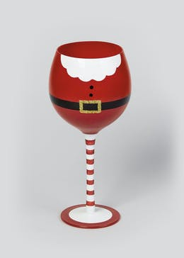 Santa Belly Wine Glass (23cm x 8cm)