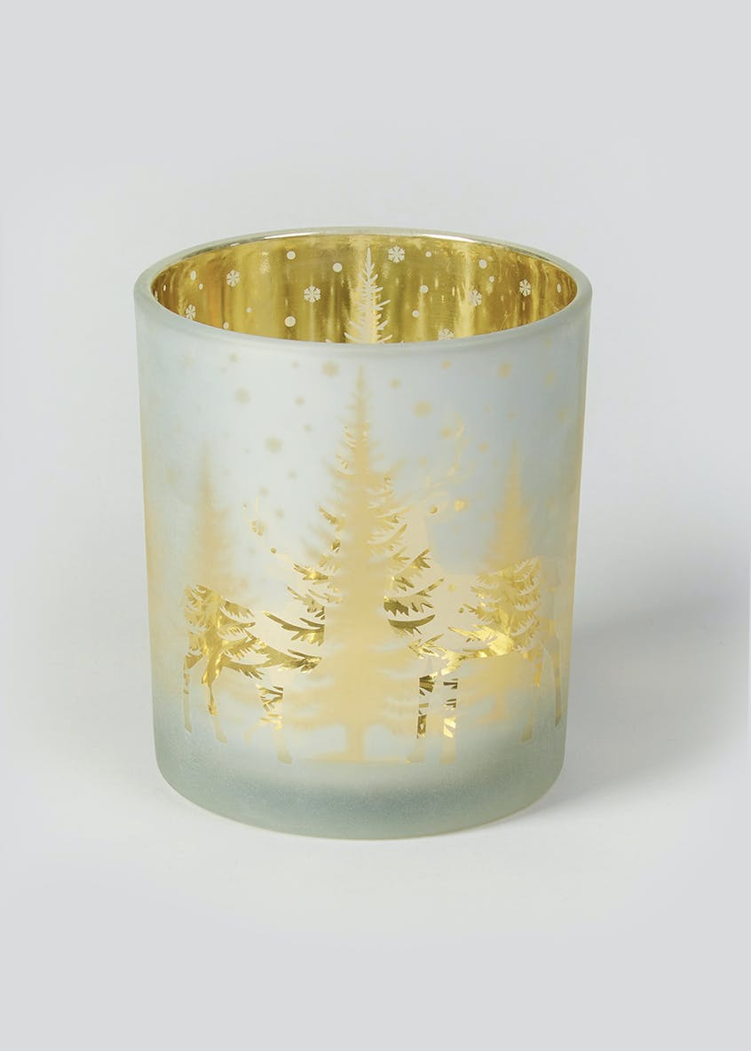 Christmas Tree Mercury Effect Tealight Holder