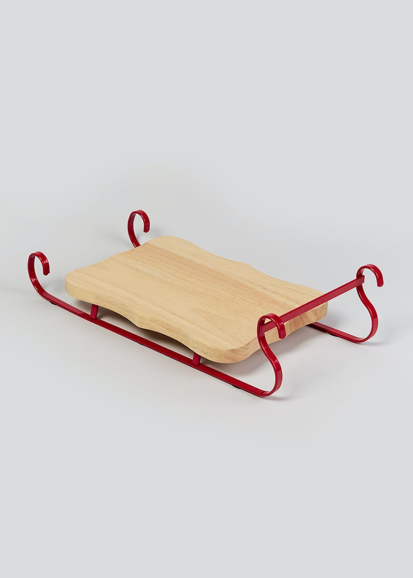 Christmas Wooden Serving Sleigh (30cm x 20cm)