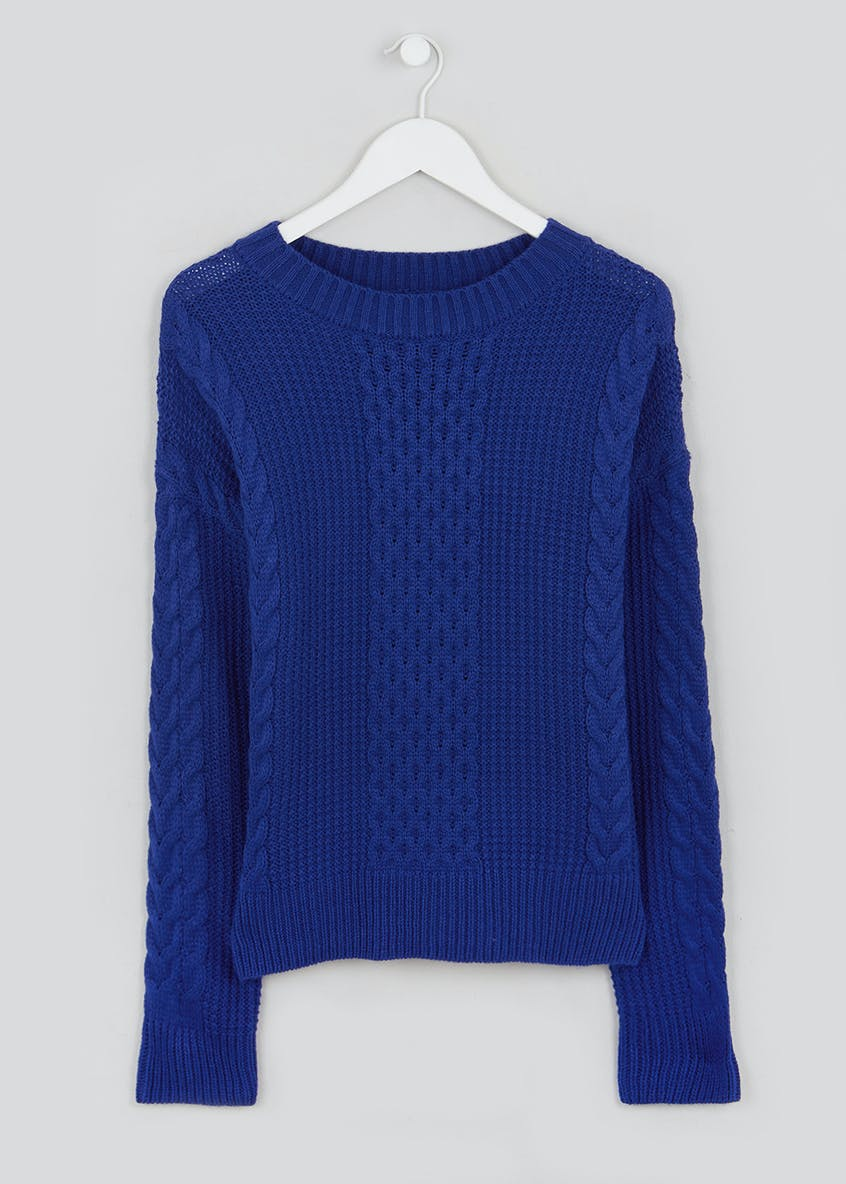 Waffle Cable Knit Jumper