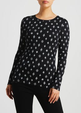 Geo Long Sleeve T-Shirt